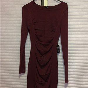 Long Sleeve maroon sparkle dress !